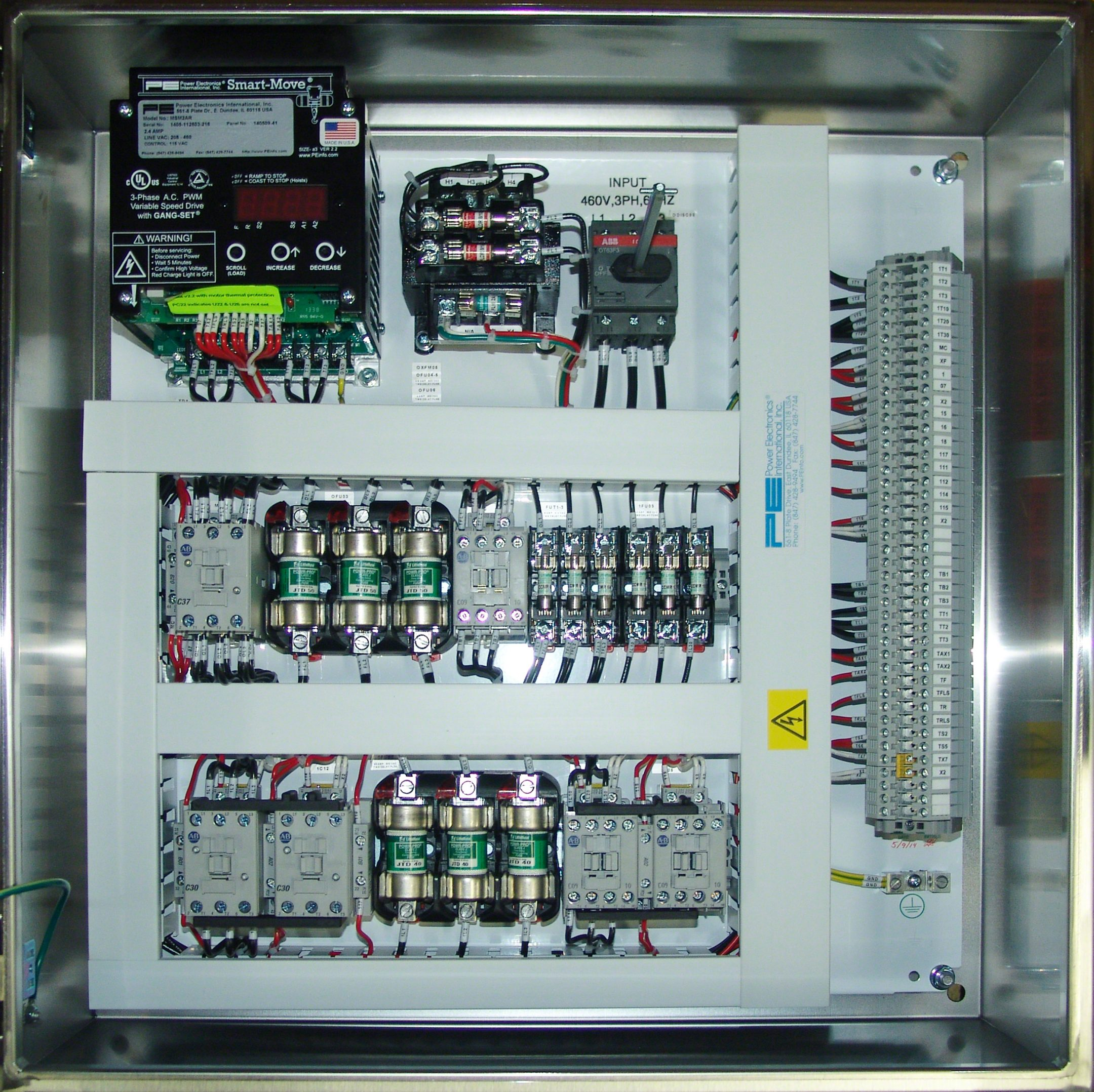 Hoist Control Panels Power Electronics Electrical Enclosures Basic Wiring For Motor Common Upgrade Options