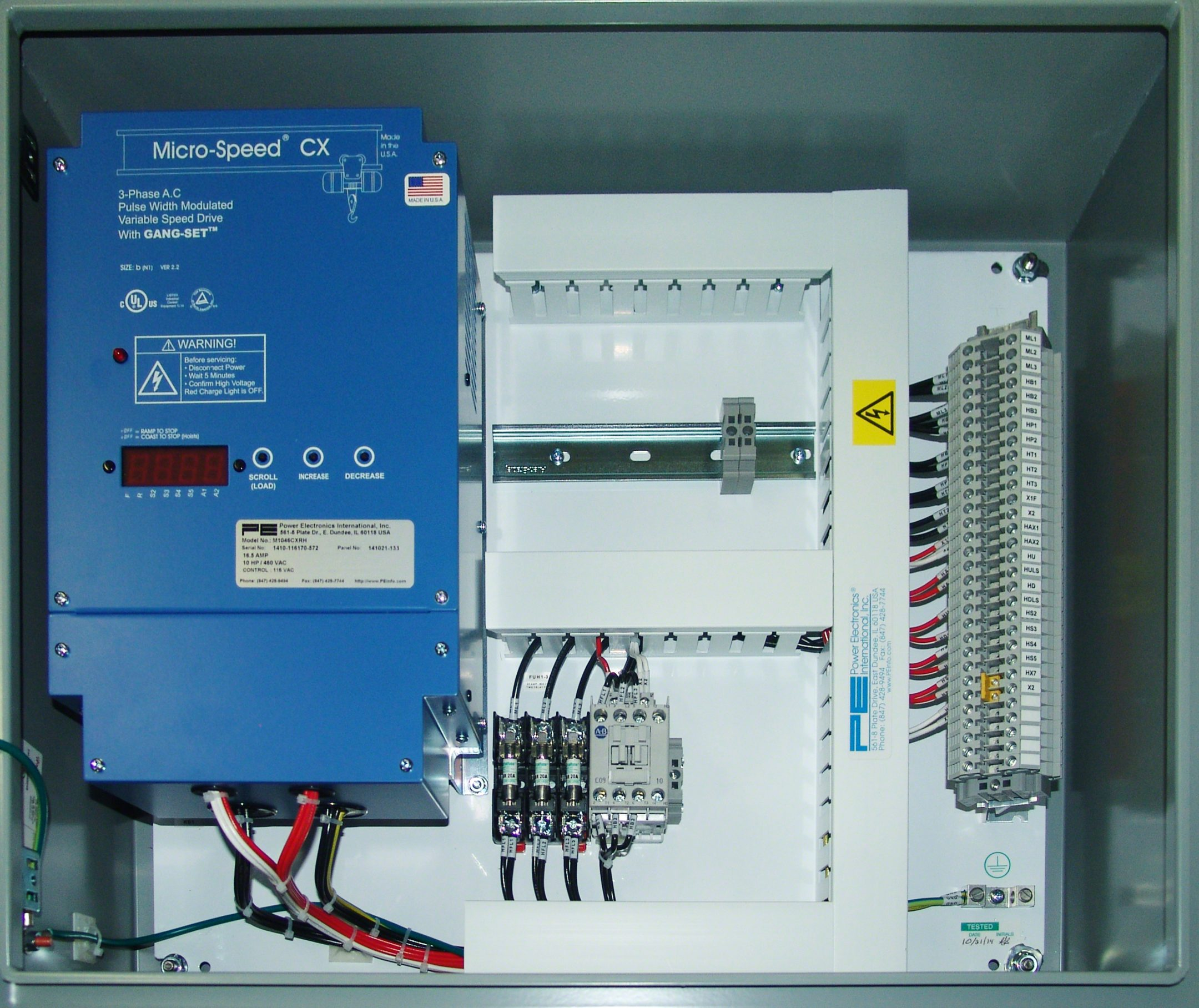 Complete Custom Control Panels And Consoles Power Electronics Electrical Enclosures Basic Wiring For Motor Hoist