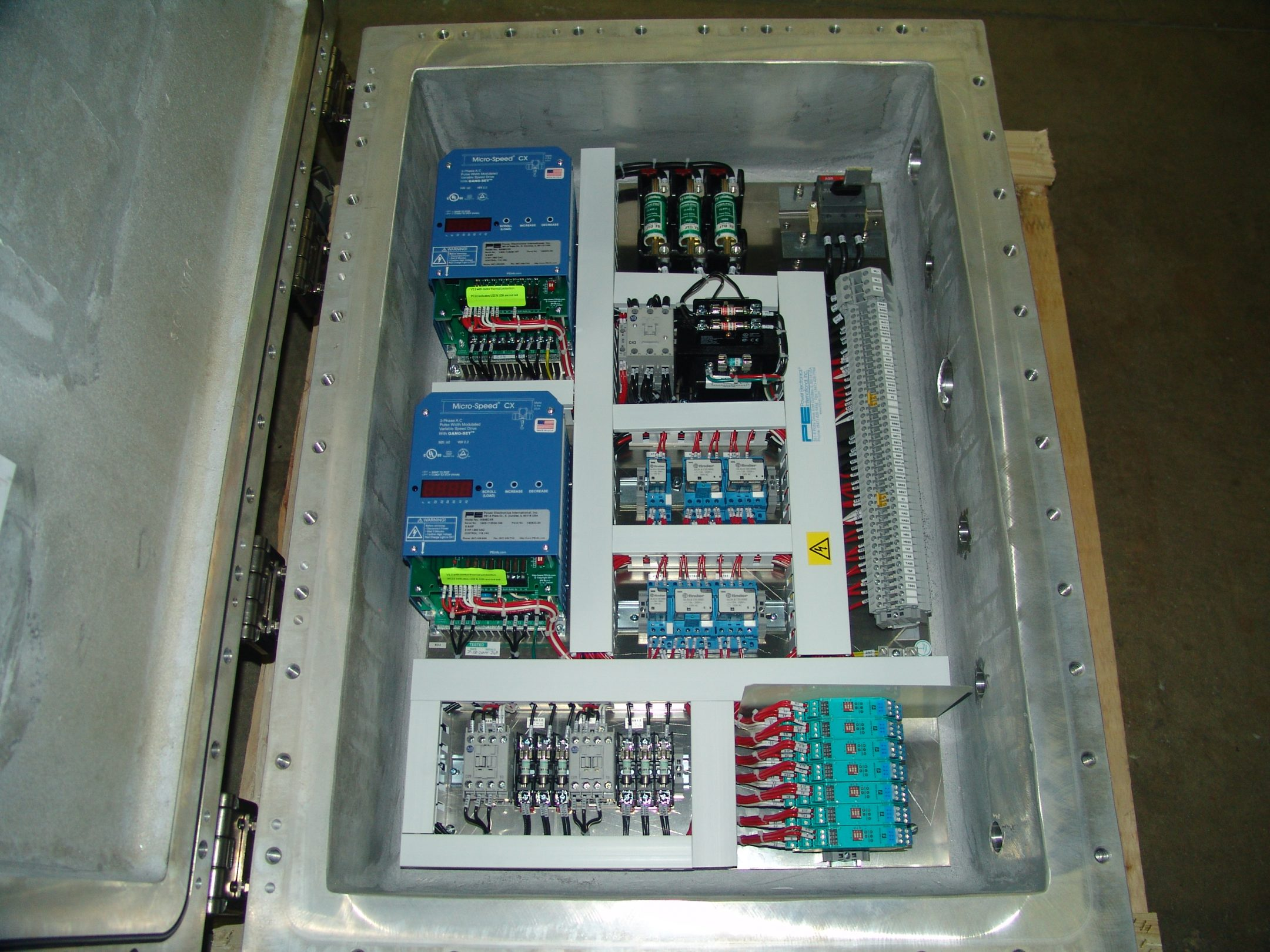 Explosion Proof Nema Type 7 9 Control Panels Power Electronics Wiring Enclosure Common Upgrade Options