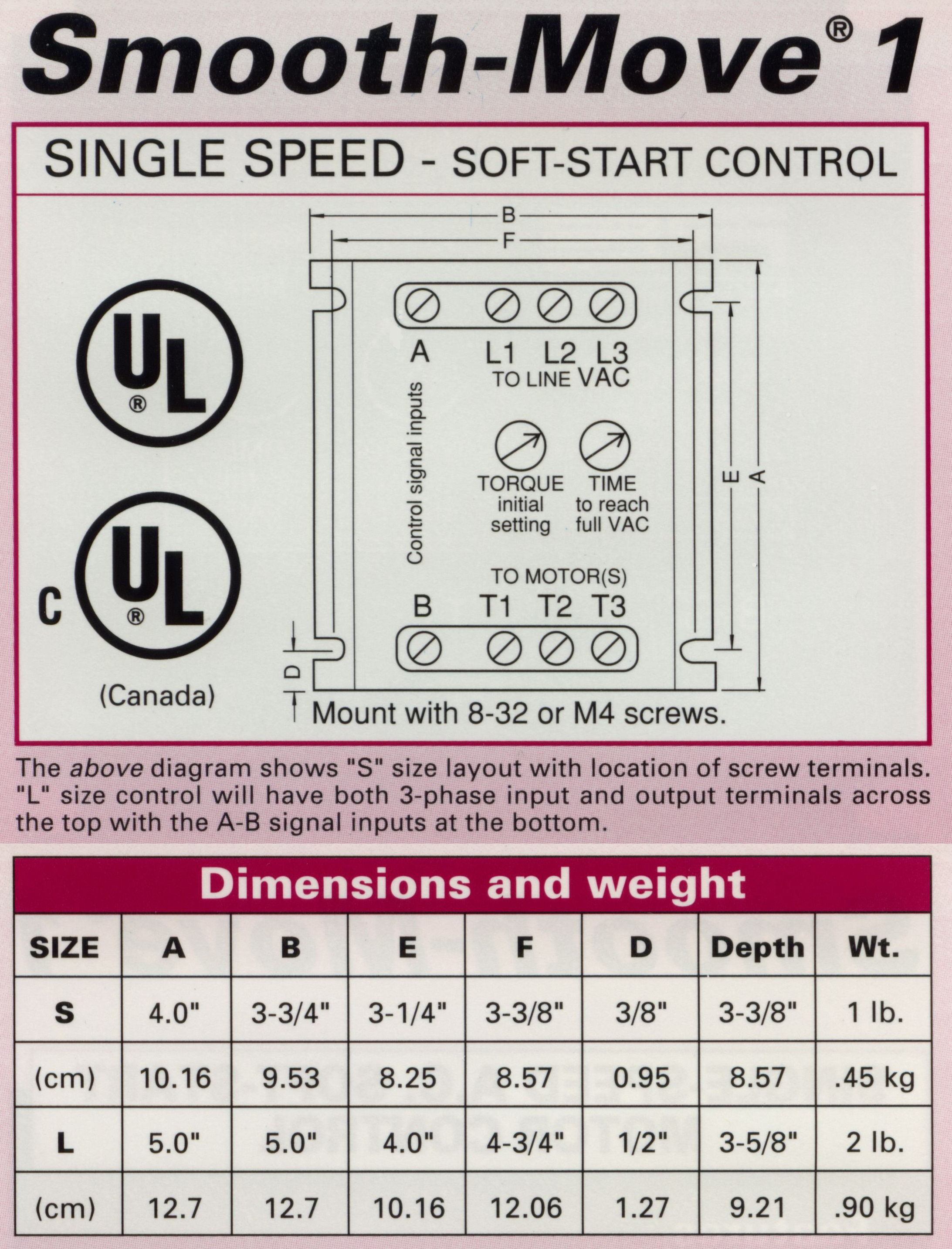 Smooth Move 1 4 10 Amps Power Electronics Induction Motor Wiring Diagram Product Description